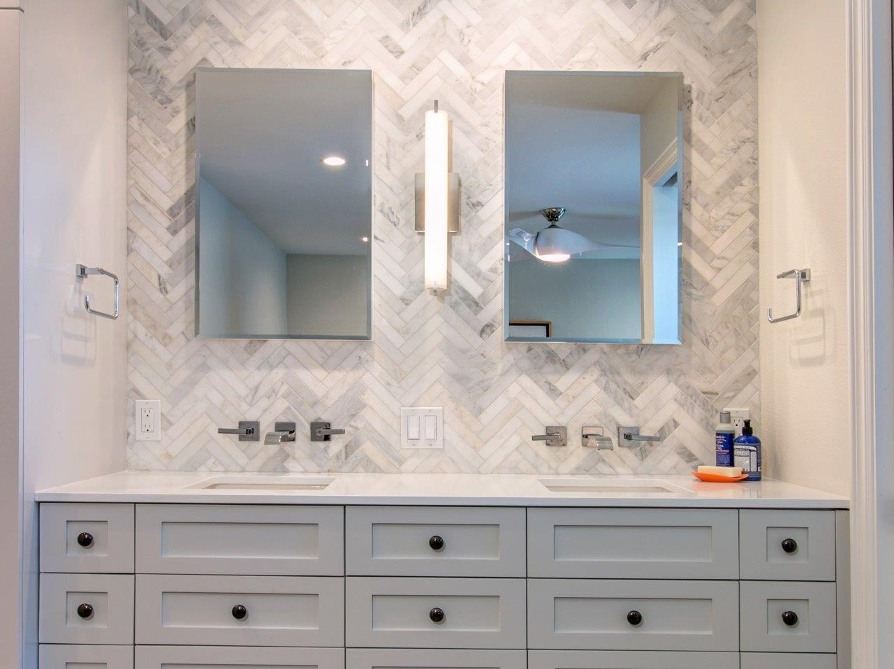 contemporary master vanity remodel – before & after