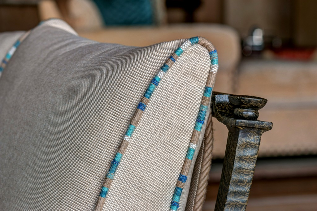 chair and fabric detail designed by Rebecca of RED interior