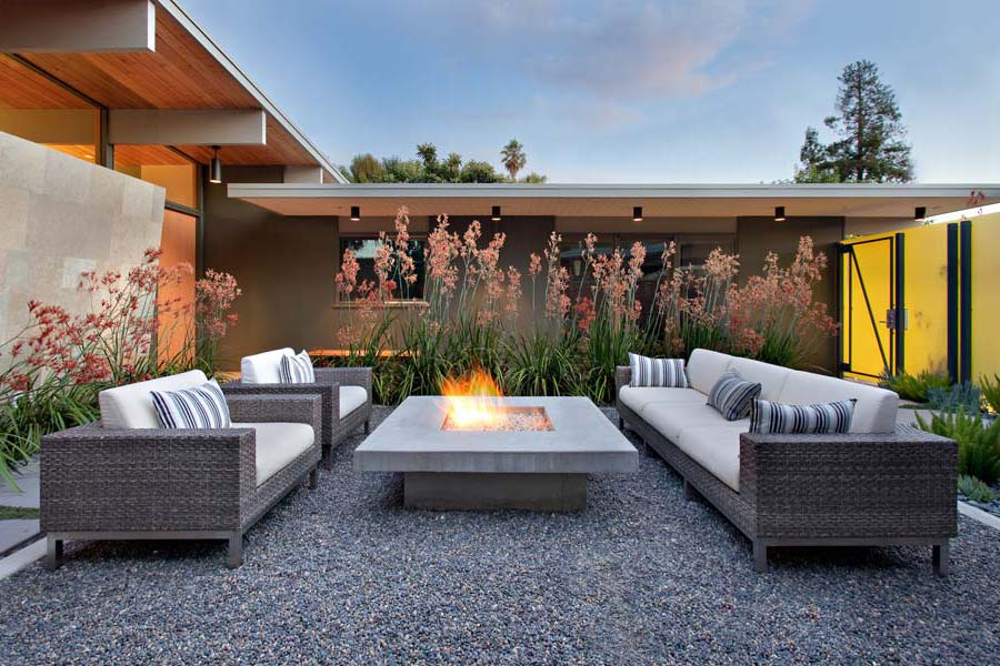 Modern-Fire-Pits-Outdoor - Bringing The Indoors Out: Outdoor Lighting & Fire - 6 Week Summer