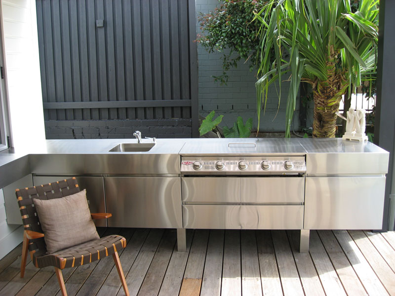 Bringing the inside out outdoor kitchen cabinetry 6 for Stainless steel outdoor kitchen
